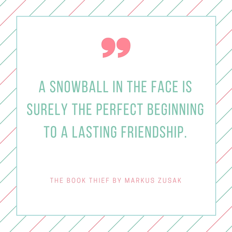 the book thief snowball quote