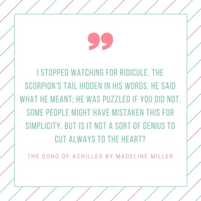 the song of achilles genius quote